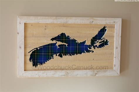 nova scotia wood maps  provincial tartan