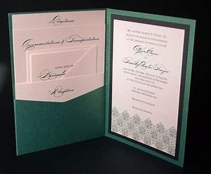 irish green celtic wedding invitation a7 pocket folded With traditional irish wedding invitations