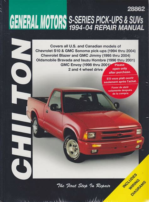 download car manuals pdf free 1994 gmc sonoma club coupe security system 1994 2004 gmc chevy s10 sonoma blazer jimmy repair manual 2003 2002 2001 6008 1563926008 ebay