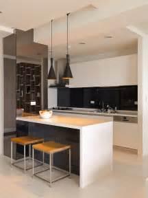 white kitchen black island black white kitchen island interior design ideas