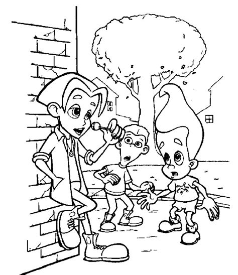 kids  funcom  coloring pages  jimmy neutron