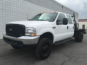 Clean 1999 Ford F350 Crew Cab Xl 4x4 Flatbed Dually 7 3