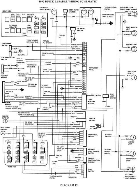 buick lesabre schematic wiring diagrams schematic
