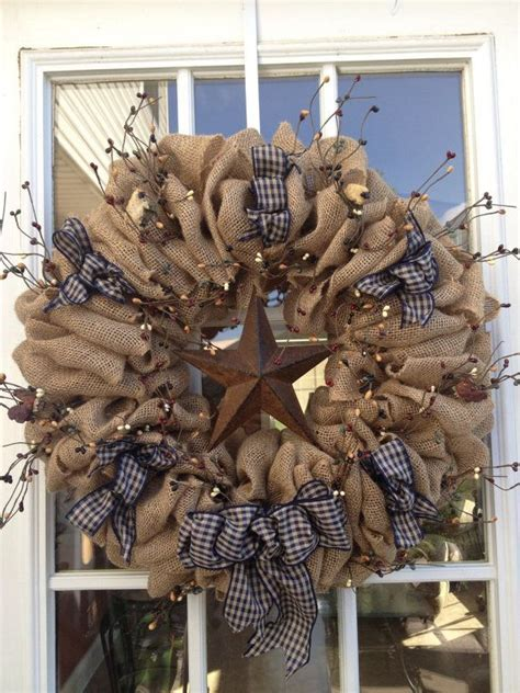 ideas  primitive wreath  pinterest diy