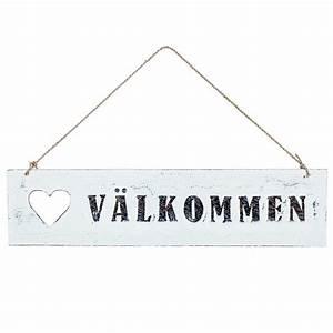 Kissen Auf Schwedisch : willkommensschild holzschild v lkommen wei bei min butik online kaufen ~ Eleganceandgraceweddings.com Haus und Dekorationen