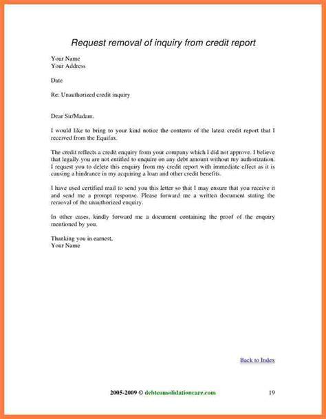 remove inquiries  credit report sample letter