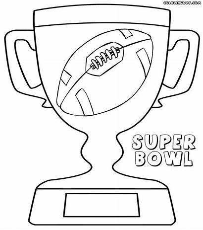 Bowl Super Coloring Pages Drawing Colorings Superbowl