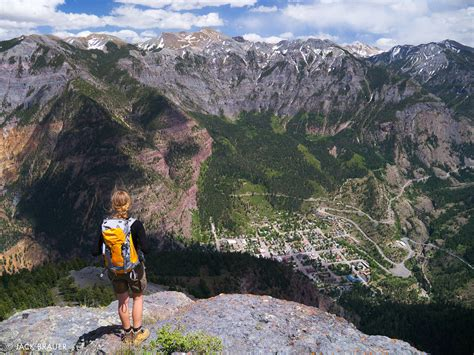 top xl peaks overlook ouray colorado mountain