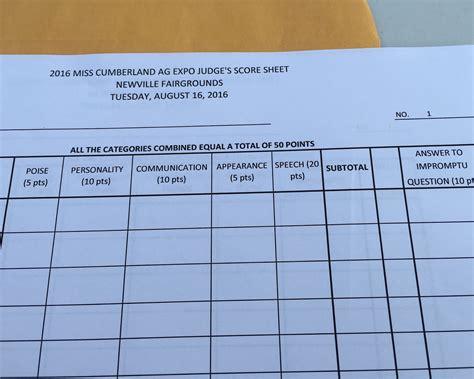 america judging score sheets fashion dresses
