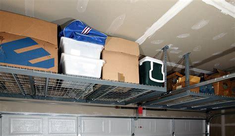 overhead garage storage systems diy overhead garage storage racks the better garages
