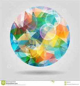 Abstract Geometric Colourful Spherical Shape With Bubbles ...