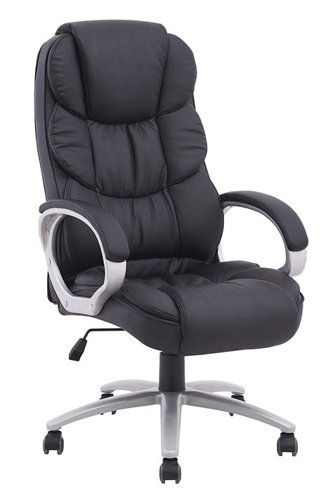 computer desk chair review high back executive pu leather ergonomic worth the