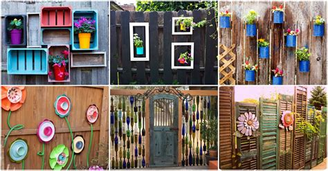stupendous diy fence decorations  add life  color