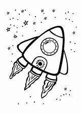 Rocket Coloring Ship Pages Space Printable Getcolorings sketch template