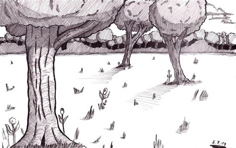 Easy Backgrounds To Draw Forest Drawing Hd Desktop Wallpaper Instagram Photo