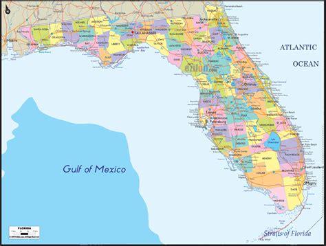 political map  florida ezilon maps