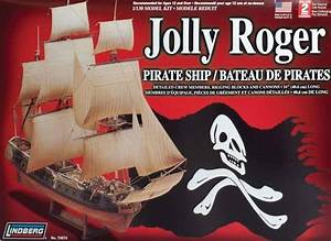 Lindberg 1  130 Jolly Roger Pirate Ship Plastic Model Kit