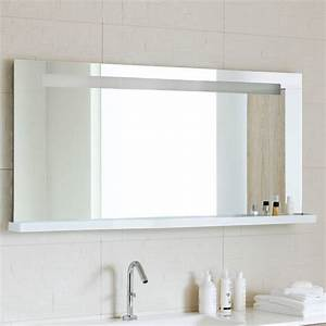 Miroir salle de bain lumineux miroir avec tablette et for Miroir lumineux avec tablette salle de bain