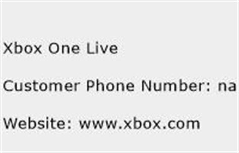 xbox one phone number xbox one live customer service phone number toll free