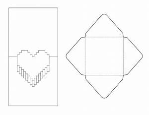 8 best images of pop up card printable templates 3d With pop out heart card template