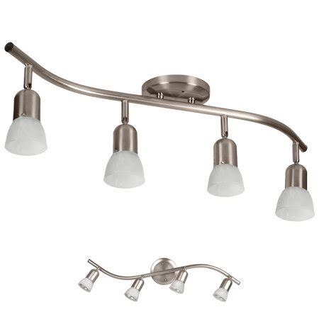 Brushed Nickel Bathroom Light Fixtures by 4 Globe Track Lighting Wall Or Ceiling Mount Light Fixture