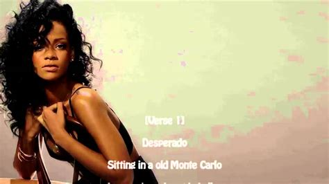 Rihanna Desperado Lyrics Youtube