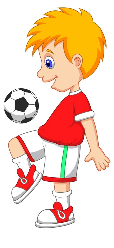 Kids Playing Soccer Free Cartoon Images Elsoar