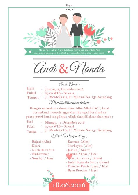 mendesain undangan pernikahan  coreldraw belajar