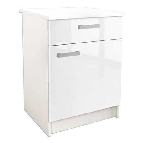 caisson cuisine bas 60 cm start caisson bas de cuisine l 60 cm blanc haute brillance achat vente elements bas