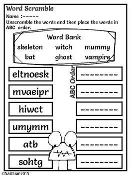 halloween math worksheets  literacy  images