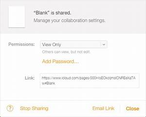 How to share iwork documents from icloud for Documents pages icloud