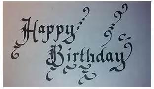 Happy Birthday Fonts ~ Happy birthday fonts calligraphy infrastructura.info