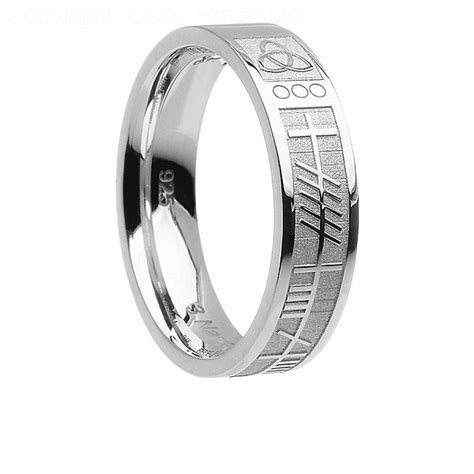 Ogham Soulmate Band  Celtic Rings Ltd. Rhodium Engagement Rings. Nerdy Rings. Cobalt Wedding Rings. Engraving Design Engagement Rings. Rose Rings. Cheap Sapphire Engagement Wedding Rings. Cost Engagement Rings. Brown Wedding Rings