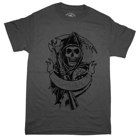 sons of anarchy sons of anarchy grim reaper logo flocked tv show t shirt walmart