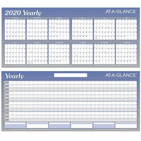 yearly glance dry erase wall calendar