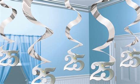deko zur silberhochzeit swirls dekoration zahl 25 silberne hochzeit