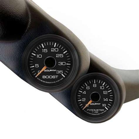 autometer  chevy duramax   dual  pillar gauge