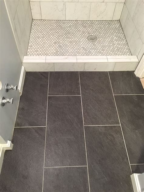 Lowes Bathroom Floor Tiles by Our Basement Bathroom Reno Porcelain Tile Floor