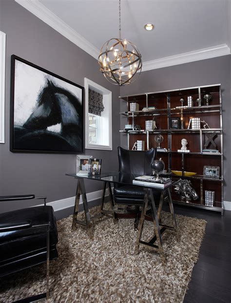 Masculine Office Wall Decor by Ibb Design Modern Home Office Dallas By Ibb Design