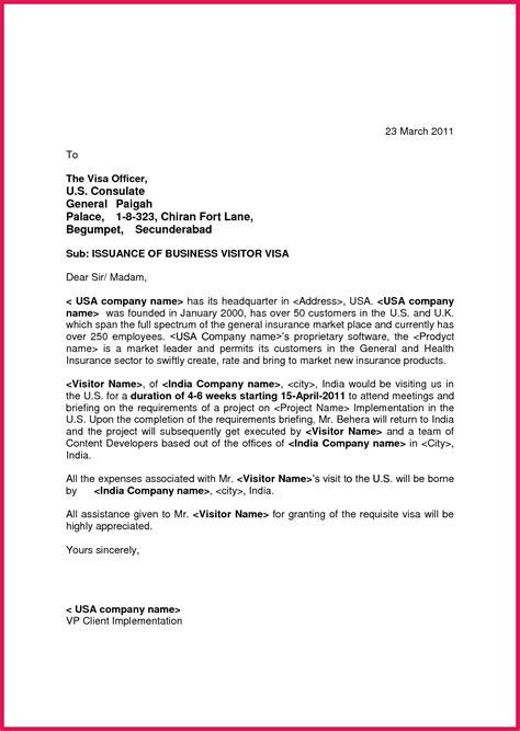 invitation letter for us visa sle business wedding