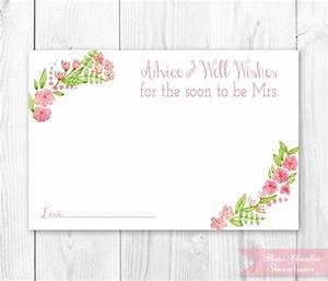 vintage floral bridal advice card floral bridal shower With wedding shower card printable free