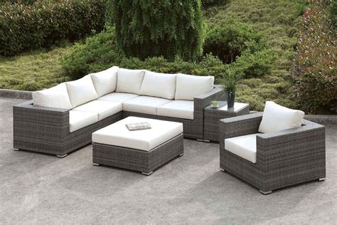 somani outdoor  shaped sectional set configuration