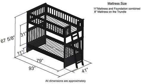 Bunk Bed Dimensions by Discovery World Furniture Espresso Bunk