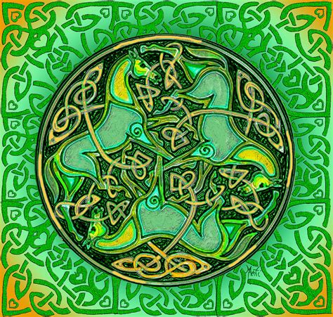 shower curtains 3 celtic horses digital by michele avanti