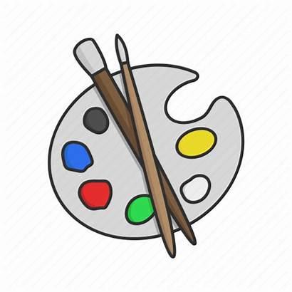 Brush Paint Clipart Mix Kit Palette Painting