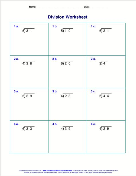 division worksheets remainders 4th grade worksheets for division with remainders