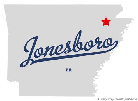 Map of Jonesboro, AR, Arkansas