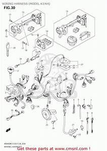 Suzuki An400s Burgman 2004  K4  Usa  E03  Wiring Harness