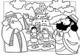 Babel Tower Coloring Pages Bible Preschool Sunday Printables Van Sheet Story Sheets Crafts Torre Building Para Toren Lessons Bijbel Printable sketch template