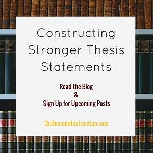 constructing a thesis statement argumentative thesis creator film  how to create a thesis for a compare  contrast essay